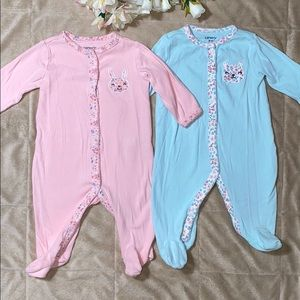 2 Baby girl onesies carters size 3 months